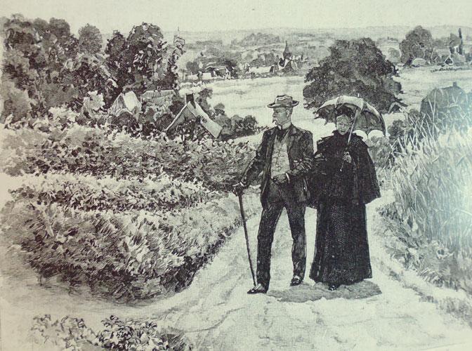Jan Hoynck van Papendrecht (1858-1933): illustratie bij de roman My Lady Nobody', 1895